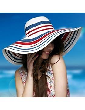 Yk pieghevole protezione solare cappello spiaggia sole cappello donna estate ombra erba cappello