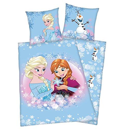 Disney Eiskönigin Eiskönigin Bettwäsche 135x200 cm Frozen Anna & ELSA Flanell Baumwolle