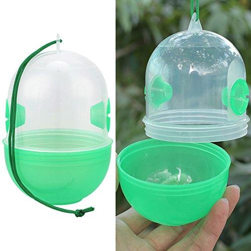 Kicode Libres de plásticos Naturales no tóxicos Avispa Trampa Repelente de Control de plagas Abeja Catcher Pot de la Miel para el jardín de la Granja Yard, g