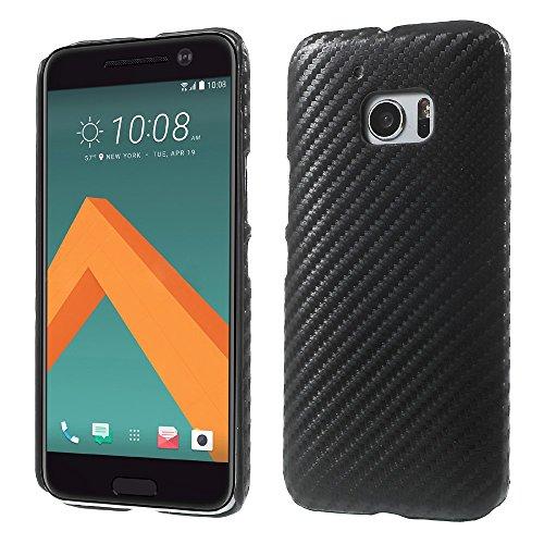 Carbon Fiber Grain Leather Skin Plastic Tasche Hüllen Schutzhülle Case für HTC 10/10 Lifestyle