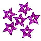 xMxDESiZ 104 Stück Schleife Glänzend Sterne Anhänger Hochzeit Ballon Dekoration Party Supplies