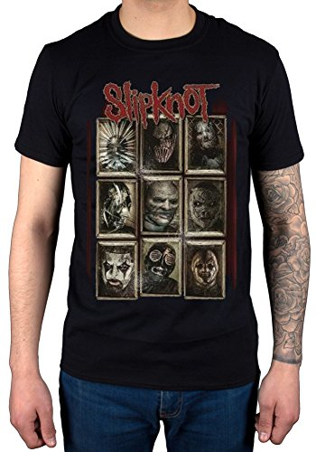 Official Slipknot New Masks T-Shirt Rock Band Metal Corey Mick (Rock-t-shirts Slipknot)