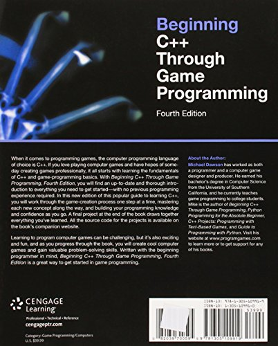 Beginning C++ Through Game Programming