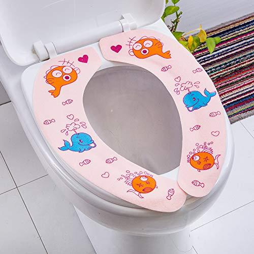 WC-Kissen WC-Sitzring Winter-WC-Kissen WC-Sitzring WC-Deckel WC-Sitzkissen Paste Universal Multicolor, Trompete blau