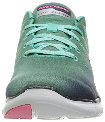 Skechers Flex Appeal 2.0 High Energy, Baskets Basses Femme Navy/aqua