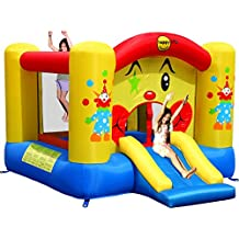 Happy Hop - Bj9201 - Toboggan - Clown Slide And Hoop Bouncer