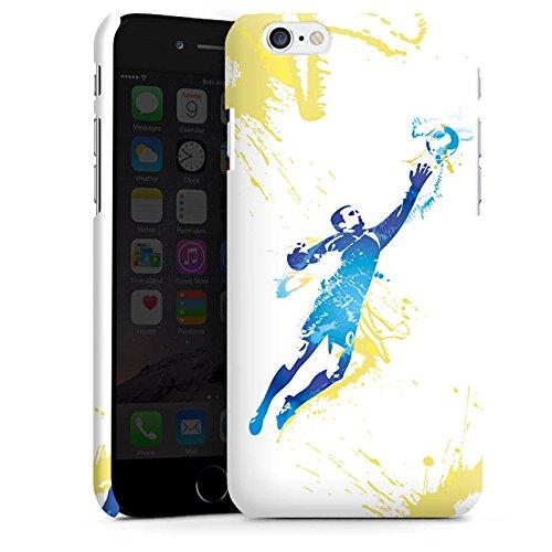 Apple iPhone X Silikon Hülle Case Schutzhülle Torhüter Fußball Torwart Premium Case matt