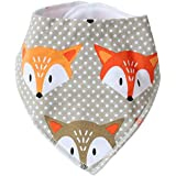 LifeTree Baby Bandana Drool Bibs With Snaps