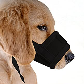 ubest Dog Muzzle Soft Prevent Biting Chewing Black Small 7