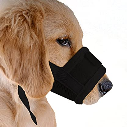 ubest Dog Muzzle Soft Prevent Biting Chewing Black Small 1