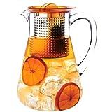 Finum 66/428.60.70 Iced Tea Control - Jarra con filtro para té helado (1,8 L, con mecanismo Brew Control), color naranja