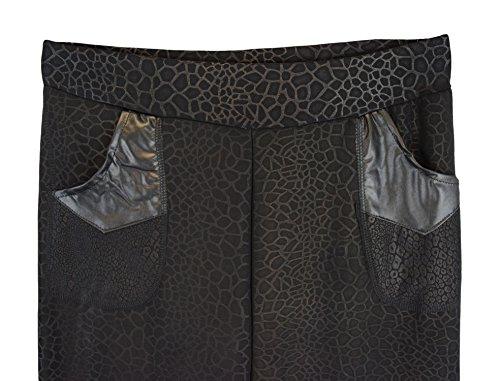 S&LU tolle, warme Damen Thermo-Leggings in verschiedenen schönen Designs Übergröße XL-5XL Modell 17