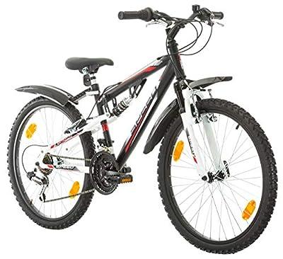 Multibrand, PROBIKE Speed 24 Jungen Fahrrad, 24 Zoll, 330mm, FSP Mountainbike, Shimano18 Gang, Unisex, Kotflügel Set