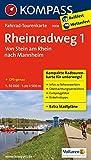 Rheinradweg 1, Von Stein am Rhein nach Mannheim: Fahrrad-Tourenkarte. GPS-genau. 1:50000.: Fietsroutekaart 1:50 000 (KOMPASS-Fahrrad-Tourenkarten, Band 7008)