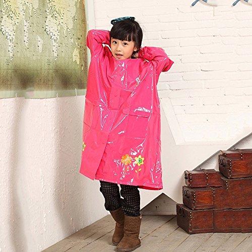 FEIFEI Imperméable à l'eau de la mode EVA des enfants de mode Protection de l'environnement rafraîchissante Filles extérieures Portable Protection contre le vent imperméable à la pluie de protection Voyage Rouge Taille du produit: M L XL ( taille : L )