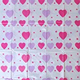 Baby Girls' Hearts Pattern No Mess Easy Clean Floor Mat
