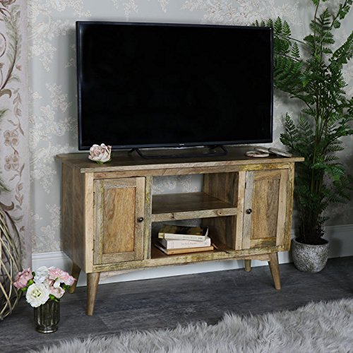 Melody Maison rustikale natürliche Holz-Schrank–Oslo Serie (Rustikal Tv-konsole)
