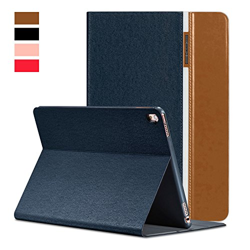Funda iPad Mini 4, AUAUA iPad Mini 4 Funda, Funda de cuero para iPad Mini 4 con tecnología de encendido/apagado Smart Cover +Filme protector de pantalla para Tableta iPad Mini 4 pulgadas de Apple (iPad Mini 4,
