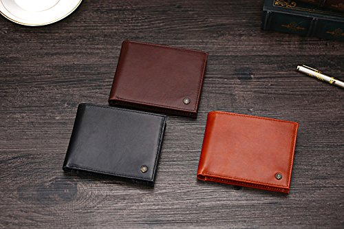 51TOCUr131L - Cronus & Rhea® | Luxury wallet with coin pocket made of exclusive leather (Plutus) | Wallet - Money Clip | Real leather | With elegant gift box | Men