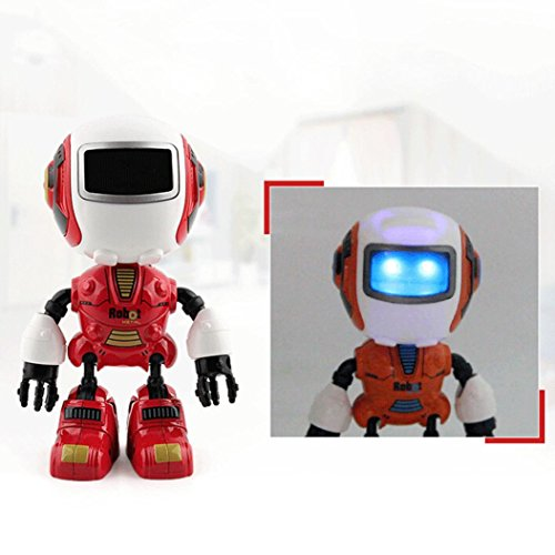 Xshuai 2017 Sensing Touch multifunktions Musik Smart Mini Alloy Roboter mit LED Kinder Spielzeug Geschenk (Rot)