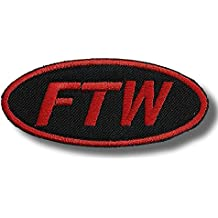 FTW F*ck The World Funny Embroidered Motorcycle MC Club NEW Biker Patch PAT-2387 by heygidday