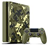 PS4 console Slim 1 TB Green Camouflage Call of Duty WWII