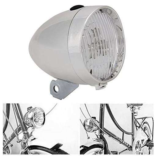 UEB Luce Anteriore per Bicicletta Retrò Faro Bicicletta Vintage 3 LED con Staffa