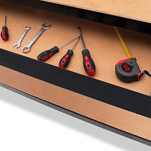 Werkbank Deuba® ✔ XXL 150x120x60cm ✔ Lochwand ✔ Profi Ausführung – Werkstatttisch Packtisch Werktisch - 5
