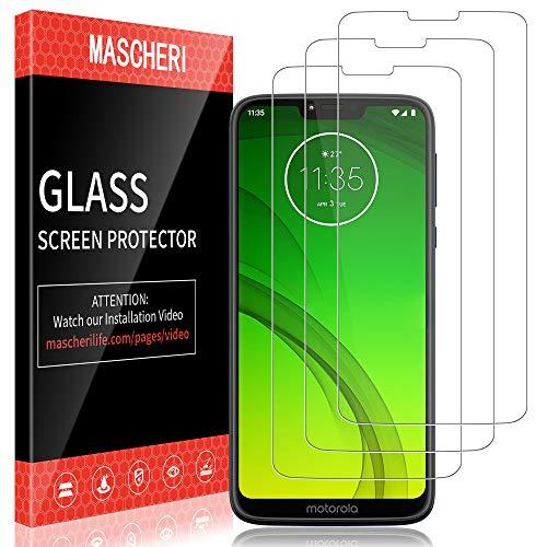 MASCHERI Schutzfolie für Motorola Moto G7 Power Panzerglas, [3 Stück] Screen Protector Glas Panzerglasfolie Bildschirmschutzfolie Folie für Motorola G7 Power Moto G7 Power