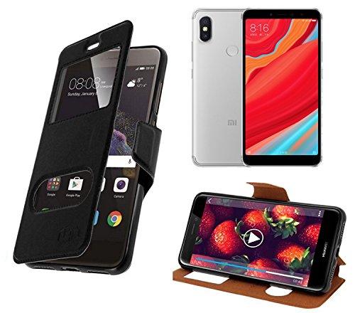 New & Teca–Carcasa Xiaomi Redmi S2Funda–Funda con 2Fênetres Piel sintética con Tapa magnética