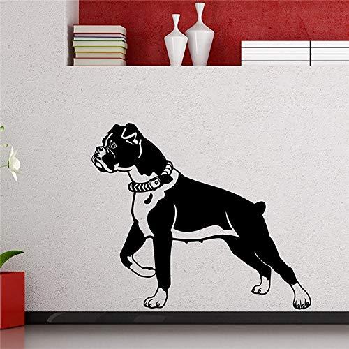 (Wandaufkleber Boxer Hund Wandtattoo Niedlichen Vinyl Aufkleber Home Decor Living Teen Kinder Baby Kinder Kindergarten Kunst Schablone Wandbild 58 * 68 cm)