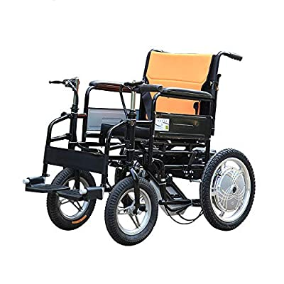 GYH Electric Wheelchair, Elderly Disabled Wheelchair, Foldable Portable Care 4-Wheel Double Motor Electric Scooter, Load Capacity 100kg (#)