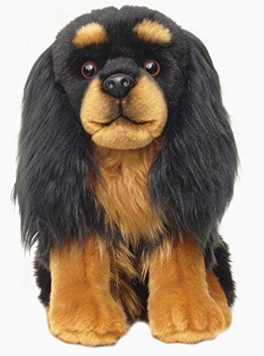 Cavalier King Charles Spaniel Dog (Black and Tan) Floppy Soft Cuddly Toy 12 Inch - Tan King