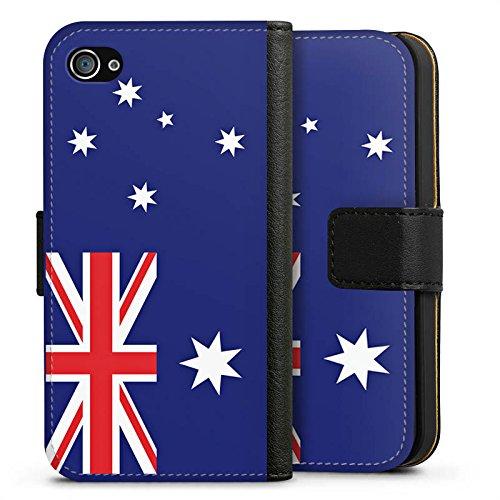 Apple iPhone X Silikon Hülle Case Schutzhülle Australien Flagge Fußball Sideflip Tasche schwarz