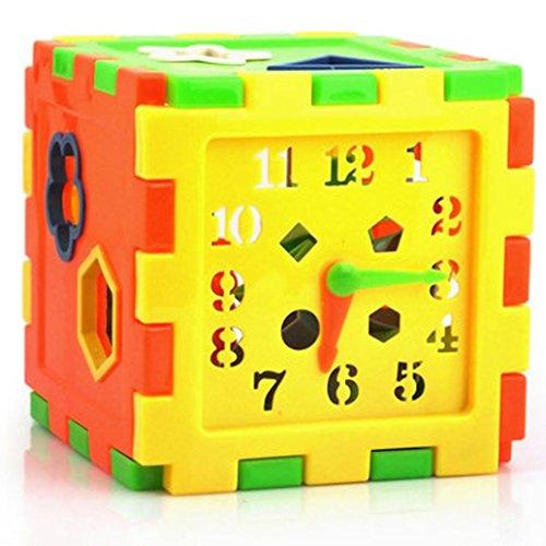 Mamum Intelligenzspielzeug / Bildungsspielzeug / Spielzeug-Sortierbox mit passenden Steinen, aus Kunststoff, bunt