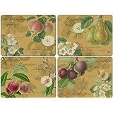 Pimpernel 40,1x 29,8cm Panneau MDF avec arrière en liège Hooker Fruits or Sets de table, lot de 4, multicolore