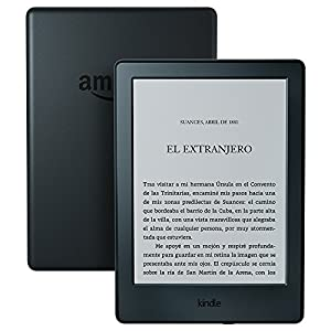Kindle, pantalla táctil de 6'' (15,2 cm), sin luz integrada, wifi (negro)
