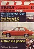Motor Rundschau + Kritik Nr. 10/1970 15.05.1970 Vergleichstest Opel Admiral/Diplomat