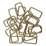 perfk 20 Ringe aus Metall für Gurtband, Gürtel, Schnallen, Tasche, Band - Bronze, 32x16x2.8mm