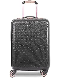 Aerolite Lightweight ABS Hard Shell 4 Wheel Carry On Travel Trolley Hand Cabin Luggage Suitcase with Built-in USB Phone Charger Port, Approved for Ryanair, easyJet, British Airways & More