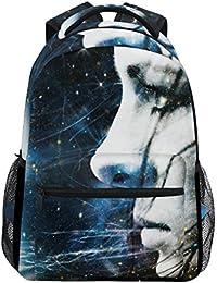 Preisvergleich für COOSUN Abstrakt weibliches Portrait Beiläufiges Rucksack-Schule-Beutel-Spielraum-Daypack Mehrfarbig