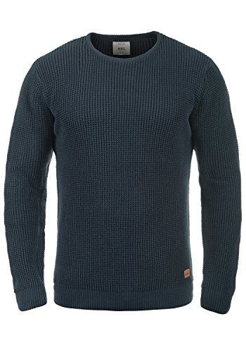 REDEFINED REBEL Maxwell Pullover, Größe:L;Farbe:Navy (Baumwolle Pullover Feine)
