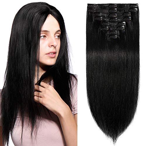 [8 Bandes à 18 Clips] Extensions à Clip Cheveux Naturels Cheveux Tombent/S'emmêlent Pas (16\