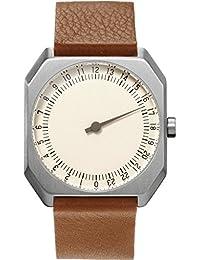Slow Jo 09 Montre bracelet Mixte, Cuir, couleur: Marron