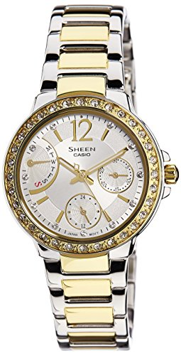 Casio (SHE-3805SG-7AUDR|SX136) Sheen Multi Fuction White Dial Women's Analog Watch image