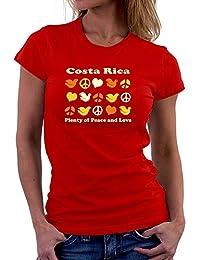 Teeburon Costa Rica PLENTY OF PEACE AND LOVE Camiseta Mujer