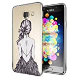 NALIA Handyhülle für Samsung Galaxy A3 2016, Slim Silikon Motiv Case Hülle Cover Crystal Schutzhülle Dünn Durchsichtig Etui Handy-Tasche Backcover Transparent Phone Bumper, Designs:Bird Princess