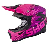 SHOT Casco Cross Furious Counter, Rosa Opaco, Taglia L