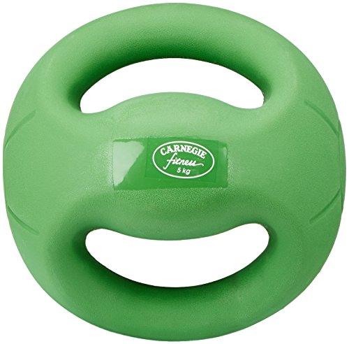Carnegie 5kg de fuerza de fútbol balón medicinal con asas Fitness