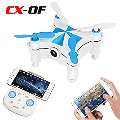 Cheerson CX-OF Optical Flow Dancing Drone with Camera 4CH 6-Axis Gyro iOS / Android APP Control WIFI FPV Selfie Drone Mini Quadcopter One Key Take OFF/Landing RTF 3D Flips LED
